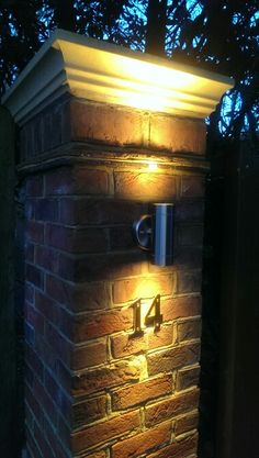 Gatepost lights. Pleased with the final results.