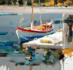 "https://www.facebook.com/MiaFeigelson ""Summer wind"" By Josef Kote, from Albania (current location, East Greenwich, Rhode Island, US) (b. 1964) - original acrylic on canvas; 48 x 48 in - https://www.facebook.com/JosefKote"
