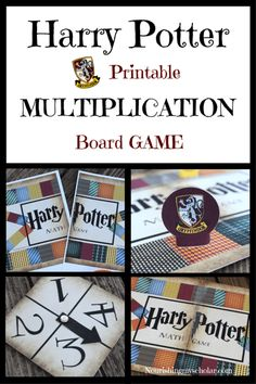 Harry Potter Printable Multiplication Board Game