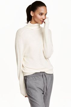 Ribbed polo-neck jumper | H&M