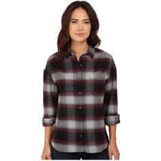 Obey Garnet Peak Button Down Women's Long Sleeve Button Up, Black ($35) ❤ liked on Polyvore featuring tops, black, button down collar shirts, folding shirts, long sleeve woven shirt, long sleeve tops and mini shirt