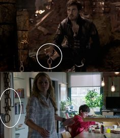 captain swan... probably was the link that let him find her
