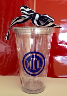 Personalized Double Walled Tumbler on Etsy