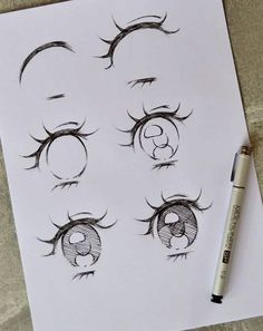 Character Design - inspiration for your future project - Character Design character design inspiration character design eyes how to draw eyes - Sketch Manga, Anime Drawings Sketches, Cool Art Drawings, Face Sketch, Drawing Designs, How To Draw Anime Eyes, Manga Eyes, Anime Eyes Drawing, Cute Eyes Drawing