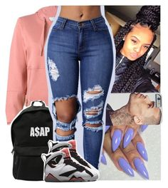 """""""Getting box braids tomorrow"""" by theyknowtyy ❤ liked on Polyvore featuring adidas and ASAP"""
