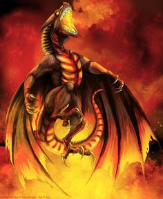 Hellfire Wyvern by *IsisMasshiro on deviantART