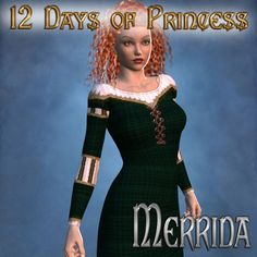 These textures are created for DAZ's Morphing Fantasy Dress. 12 Days of Princess - Merrida Disney Princess Merida, Disney Princesses, Brave Movie, Fantasy Dress, 12 Days, Fairy Tales, Peplum Dress, Deviantart, Dresses