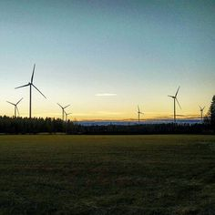 Torkkolan tuulivoimapuisto Vähäkyrö Wind Turbine, Celestial, Photo And Video, Sunset, Outdoor, Image, Instagram, Sunsets, Outdoors