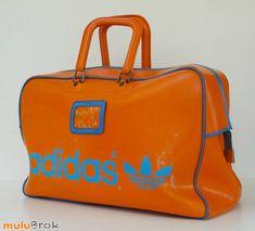 Sport Football ... Grand sac de sport orange ADIDAS * Authentique 70's . Vintage ... www.muluBrok.fr ...
