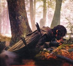 Boromir's death ~ he was a brave one, I can't tell you how much I cried when he was shot and kept fighting... :'(