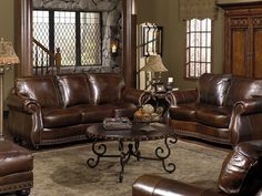 Gorgeous classic leather living room area #living #furniture #designs #decor explore freeds.net