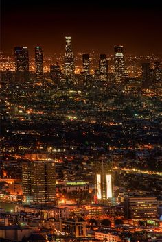 Have to go on a night hike! This is Los Angeles from Runyon Canyon.