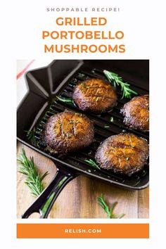 Easy recipe for the perfect portobello steak, grilled portobello mushroom burger, or easy side! wellplated.com Portobello Steak, Portobello Mushroom Burger, Vegan Gluten Free, Vegan Vegetarian, Dinner Bell, Grilling Recipes, Side Dishes, Stuffed Mushrooms, Dinner Recipes