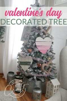 Home Decor Ikea Don't take down your Christmas tree just yet! Decorate it for Valentine's Day with these farmhouse-style DIYs from the dollar store. Home Decor Ikea Don't take down your Christmas tree just ye Valentine Tree, Valentines For Kids, Valentine Day Crafts, Valentines Day Activities, Valentines Day Decorations, Cute Home Decor, Easy Home Decor, Dollar Store Crafts, Dollar Stores