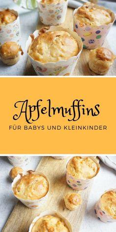 Apfelmuffins für Kinder ohne Zucker - das perfekte BLW und breifrei Rezept schon für die ganz Kleinen. #zuckerfreie Muffins mit Apfel sind super lecker und auch perfekt für den Kindergeburtstag. #muffins