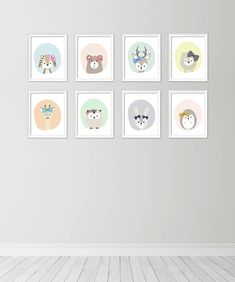 Neutral nursery decor Cute nursery wall art Nursery art