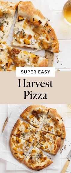 Easy Harvest Pizza - Broma Bakery Fall Recipes, Healthy Dinner Recipes, Meat Recipes, Appetizer Recipes, Appetizers, Harvest Pizza, Broma Bakery, Roasted Butternut Squash, Caramelized Onions