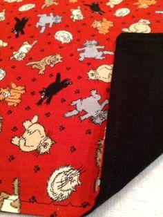 Cat Blanket Cat Mat Traveling Mat by SplendidFindings on Etsy,
