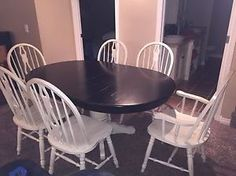 Wanted: Solid Oak Distressed Dining Set- 6 Chairs