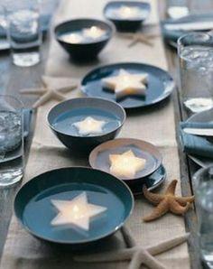 """Decorazioni per il tavolo invitati da matrimonio a tema """"La Sirenetta"""""""
