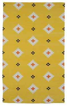 love the juxtaposition - traditional design and contemporary colors - yellow!