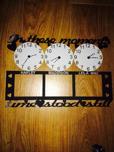 Triple clock.  In these moments time stood still