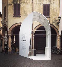 InfoBox. Festival Letteratura. Mantova #festivaletteratura #mantova #pavillion #infobox #temporary