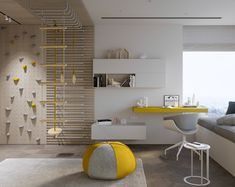 MOPS / Mosfilm Modern apartment in Moscow arkitektur Deco Kids, Cool Kids Rooms, Teenage Room, Kids Room Design, Baby Boy Rooms, Baby Room, Kids House, Room Interior, Kids Bedroom