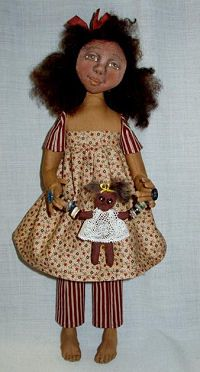 Free Cloth Doll Pattern - Project - Hoe Down pin doll pattern
