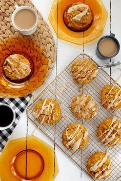 Pumpkin Pecan Scones with Brown Butter Glaze