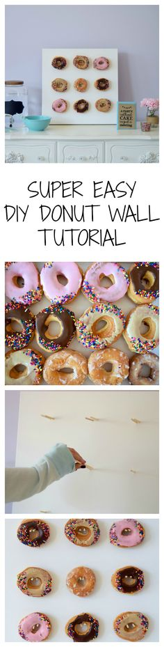 SUPER EASY DIY DONUT WALL TUTORIAL