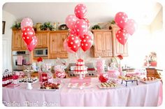 Table Settings For valentine Parties | ... red heart themed Valentine's Day party from Paisley Petal Events