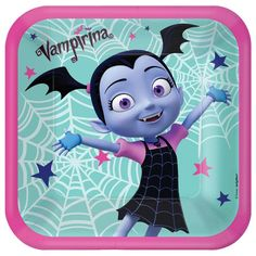 They'll feel like they're eating at the Scare B&B when they eat off of these Vampirina Lunch Plates! These square paper plates feature an image of Vampirina and spider webs on top of a teal background surrounded by a thick pink border around the edges. Halloween Party Supplies, Halloween Costume Shop, Kids Party Supplies, Halloween Costumes For Kids, Birthday Supplies, Halloween 2019, Scary Halloween, Party Kit, Party Ideas