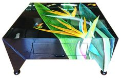 Hand-Painted Lacquer Side Table