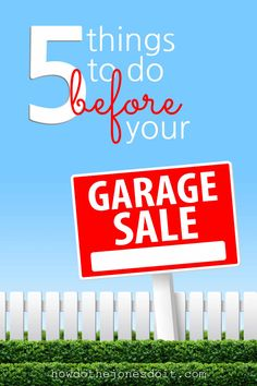 Garage sales are a lot of fun and come with bonuses! You get to free yourself of clutter and earn a little money at the same time! It's a win win! Garage Sale Pricing, Garage Sale Signs, Yard Sale Organization, Make Money From Home, How To Make Money, Sinking Funds, Spring Activities, Disney And More, For Sale Sign
