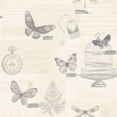 K2 Marisela Heather Wallpaper | Departments | DIY at B&Q