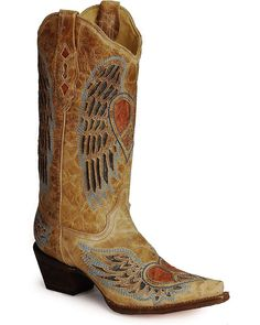 Shop a great selection of Corral Boots Corral Women's Heart Angel Wing Cowgirl Western Boot. Find new offer and Similar products for Corral Boots Corral Women's Heart Angel Wing Cowgirl Western Boot. Botas Western, Western Wear, Western Boots, Western Cowboy, Corral Boots Womens, Blue Jeans, Bota Country, Westerns, Over Boots