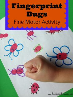 If you're looking for fun fine motor activities for kids, this one will be right up your alley.  Let's have some fun making and smooshing bugs with this fine motor sensory play.