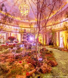 Zita Elze Flowers Aashni + Co Wedding Show Enchanted Woodland scenes at The Dorchester photo: Julian Winslow