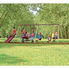 "Newcastle 6 Leg Swing Set with Slide - Flexible Flyer - Toys ""R"" Us  $ 243"