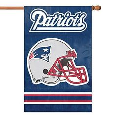 Nfl Patriots Flag 44x28 Football Themed Team Color Logo Outdoor Hanging Banner FlagGift FanFan Merchandise Athletic Spirit Blue Red Silver White Nylon