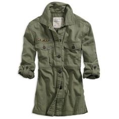 AE Women's Soft Military Jacket (Olive)