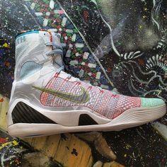 $305 Nike Kobe IX 9 Elite What The Size 14 Jordan Oreo Tech Grey Lebron KD 7 #Nike #BasketballShoes