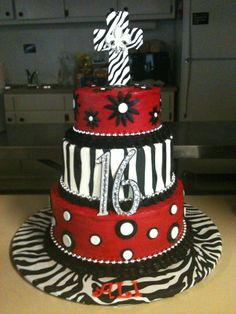 My daughter's sweet 16 birthday cake :) - created by Cindy Willis Eastman, Simply Sweets Cakes