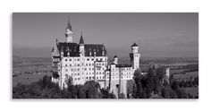 Now available   http://thousandface.myshopify.com/products/neuschwanstein-castle-canvas-black-white-panorama-wall-art-picture-home-decor?utm_campaign=social_autopilot&utm_source=pin&utm_medium=pin