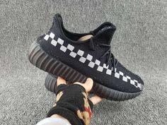 official photos 93120 a4f08 Cheap Superme X Adidas Boots Yeezy 350 V2 Superme X Black and white squares  2018 Online
