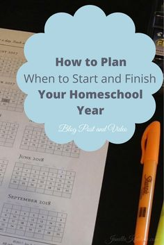 I'm planning when to start our homeschool year and I wanted to take you along. Come see how I quickly and easily plan the first and last day of our year.