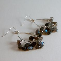 Labradorite Earrings Chandelier Earrings by LBlackbournJewelry