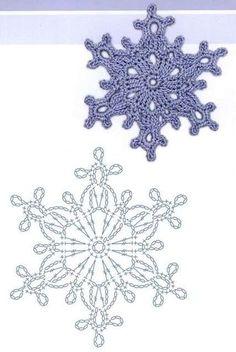 81 схема снежинок крючком и идеи для вдохновения