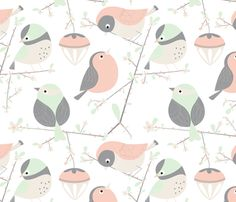 birdy fabric by gnoppoletta on Spoonflower - custom fabric